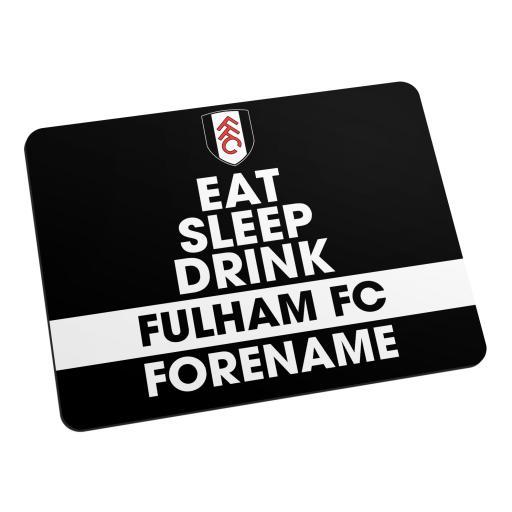 Fulham FC Eat Sleep Drink Mouse Mat