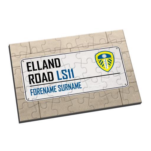 Leeds United FC Street Sign Jigsaw