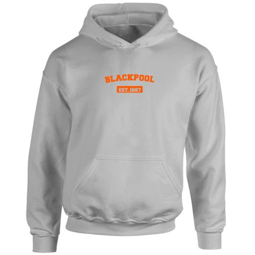 Personalised Blackpool FC Varsity Established Hoodie.