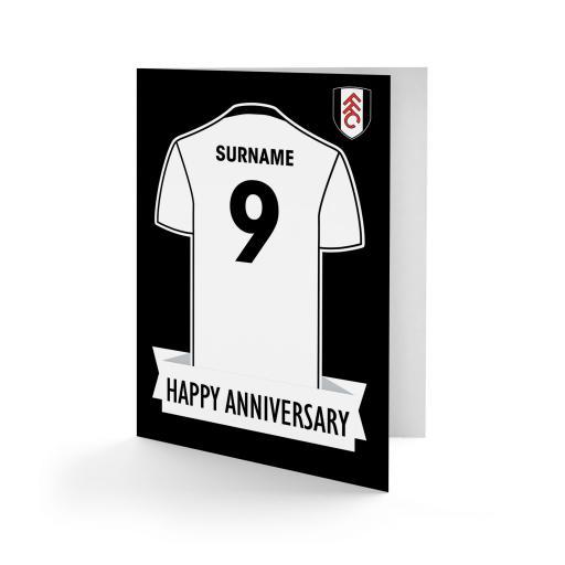 Fulham FC Shirt Anniversary Card