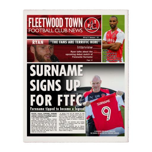 Fleetwood Town FC News Single Page Print