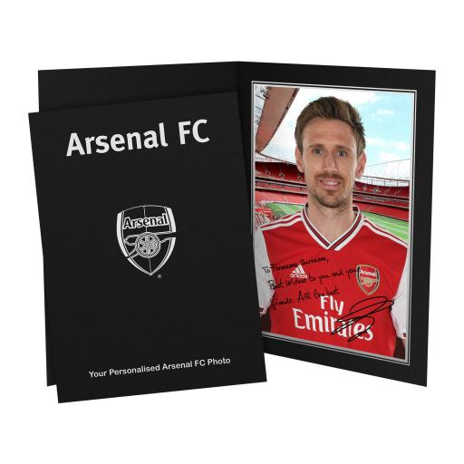 Arsenal FC Monreal Autograph Photo Folder