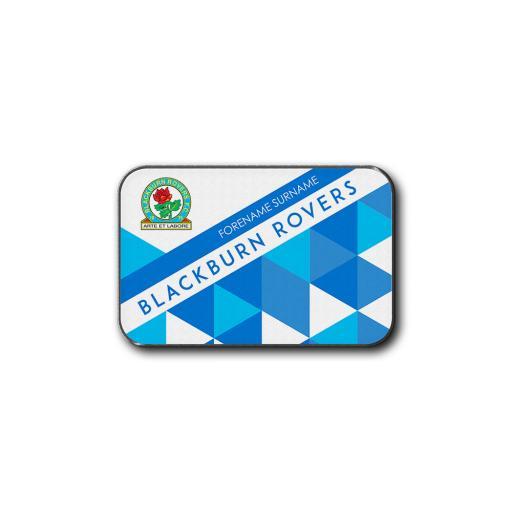Personalised Blackburn Rovers FC Patterned Rear Car Mat.