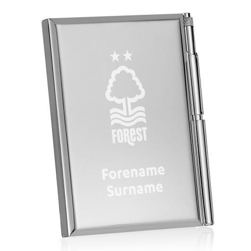 Personalised Nottingham Forest FC Crest Address Book.