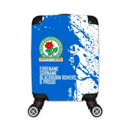 Personalised Blackburn Rovers Proud Kid's Suitcase.