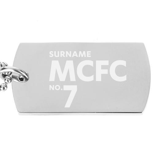 Manchester City FC Number Dog Tag Pendant