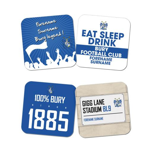 Bury FC Coasters