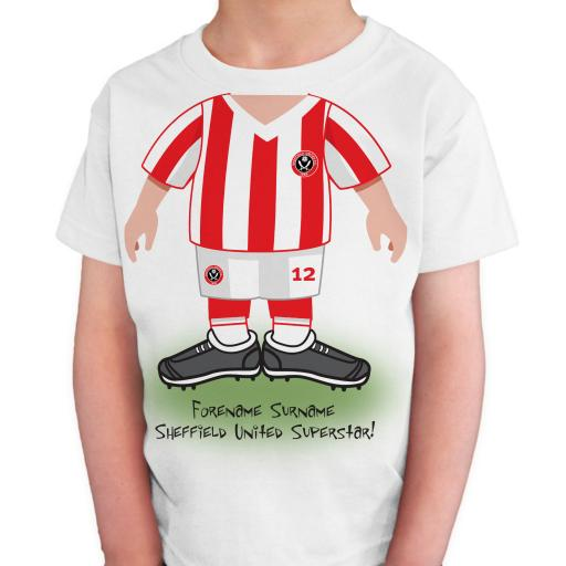 Sheffield United FC Kids Use Your Head T-Shirt