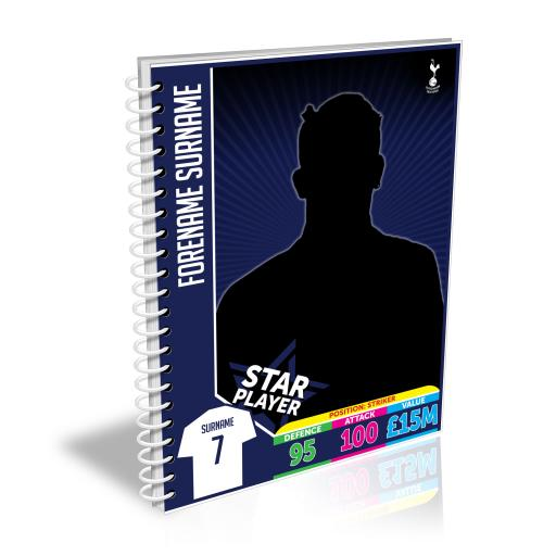 Tottenham Hotspur Trading Card A5 Lined Notepad