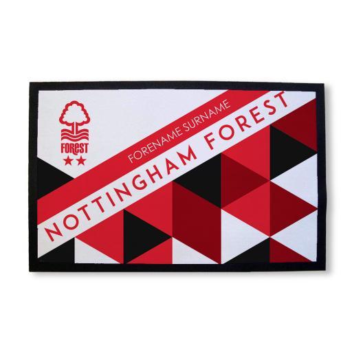 Nottingham Forest FC Patterned Door Mat