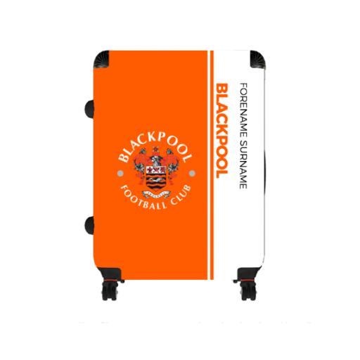 Personalised Blackpool Crest Large Suitcase.