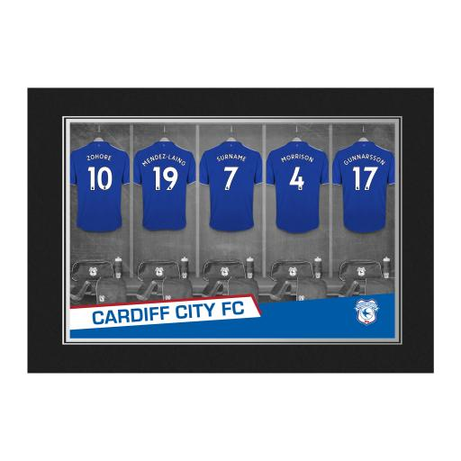 Cardiff City 9x6 Dressing Room Photo Folder