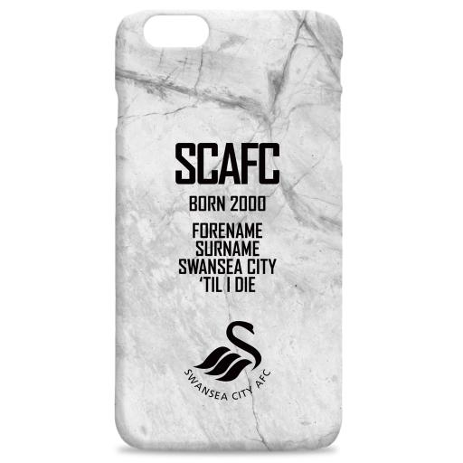 Swansea City AFC 'Til I Die Hard Back Phone Case