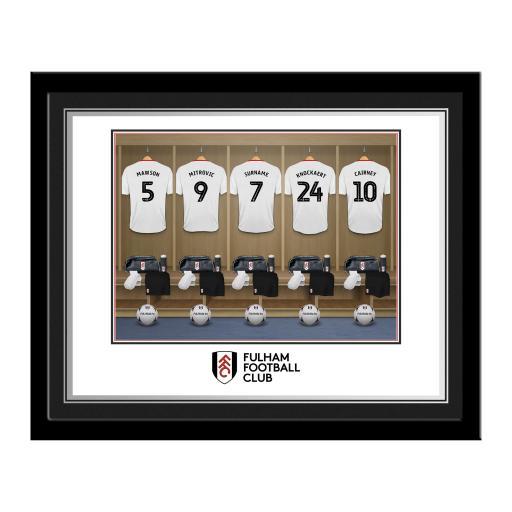 Fulham FC Dressing Room Photo Framed
