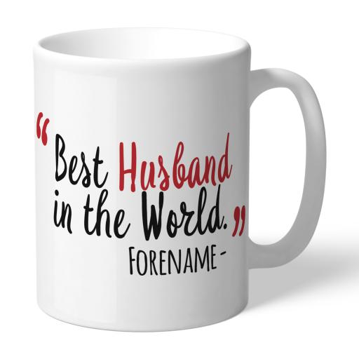 Personalised Middlesbrough Best Husband In The World Mug.