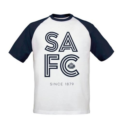Sunderland AFC Stripe Baseball T-Shirt