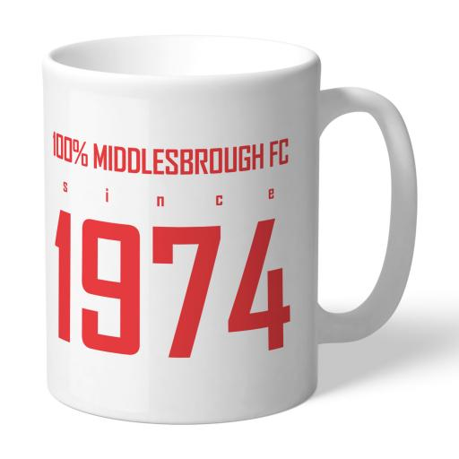 Middlesbrough FC 100 Percent Mug