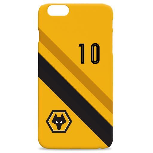 Wolverhampton Wanderers Stripe Hard Back Phone Case