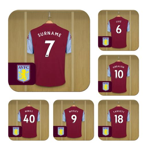 Aston Villa FC Dressing Room Coasters