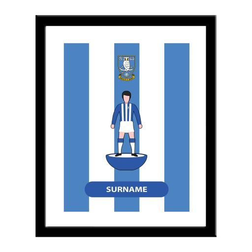 Personalised Sheffield Wednesday Player Figure Print.