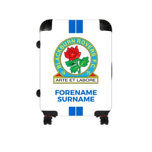 Personalised Blackburn Rovers Stripe Cabin Suitcase.