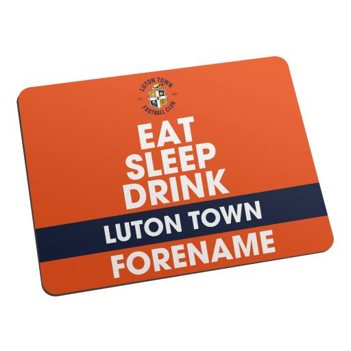 Luton Town FC Eat Sleep Drink Mouse Mat