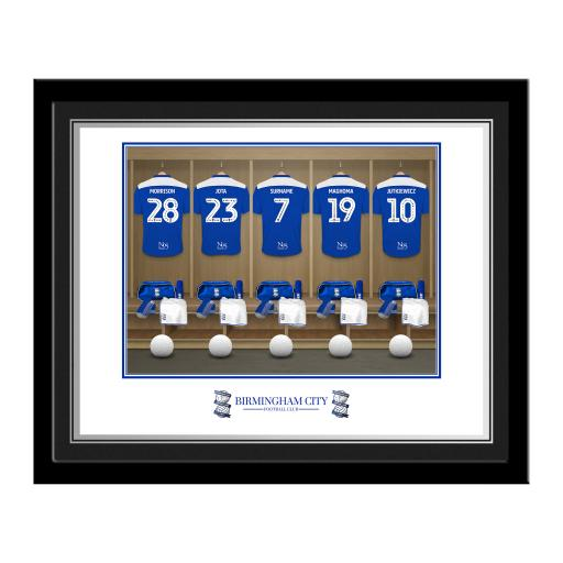 Birmingham City FC Dressing Room Photo Framed