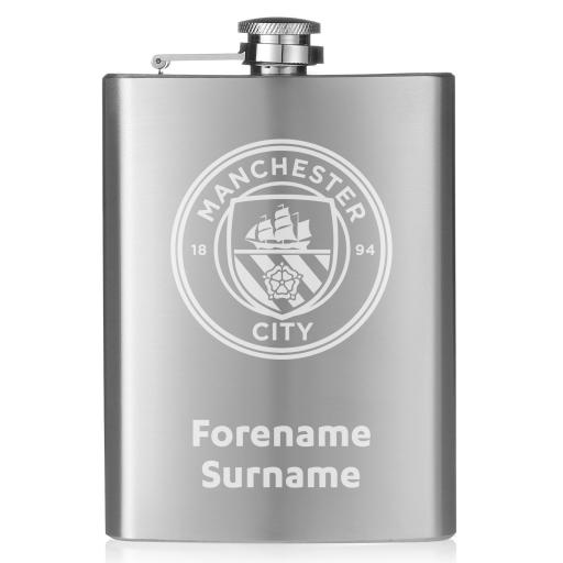 Manchester City FC Crest Hip Flask