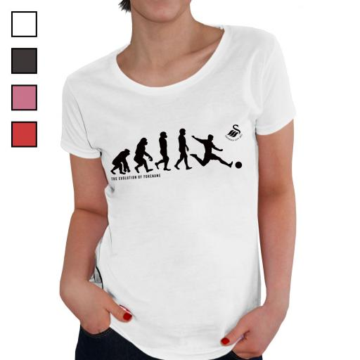 Swansea City AFC Evolution Ladies T-Shirt