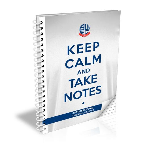 Bolton Wanderers FC Keep Calm Notebook