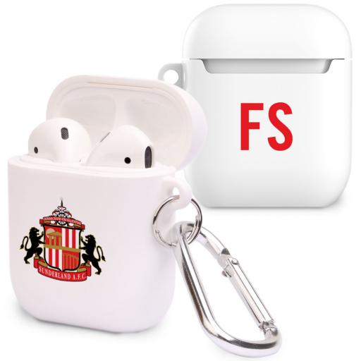 Personalised Sunderland AFC Initials Airpod Case.