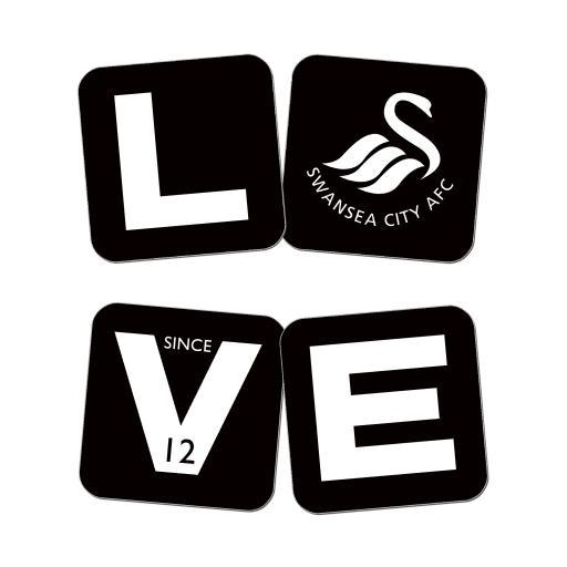 Swansea City AFC Love Coasters (x4)
