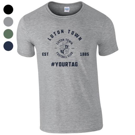 Luton Town FC Vintage Hashtag T-Shirt
