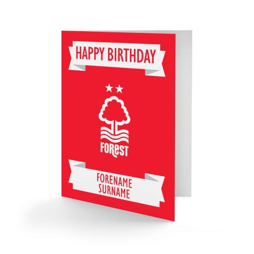 Nottingham Forest FC Crest Birthday Card