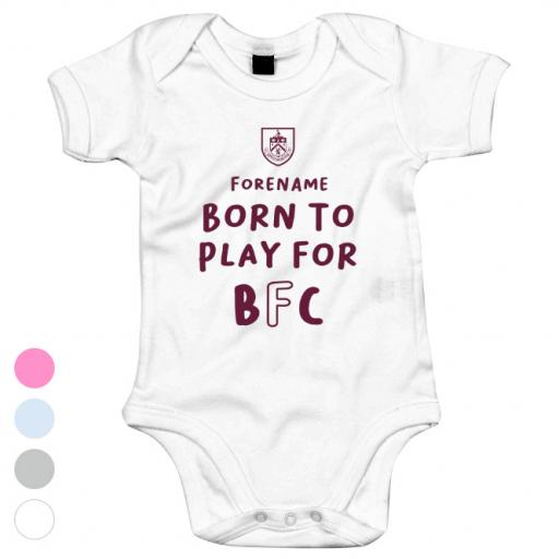 Burnley FC Born to Play Baby Bodysuit