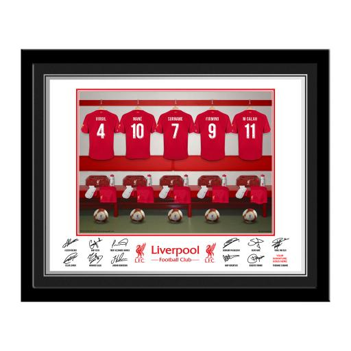 Liverpool FC Dressing Room Photo Framed