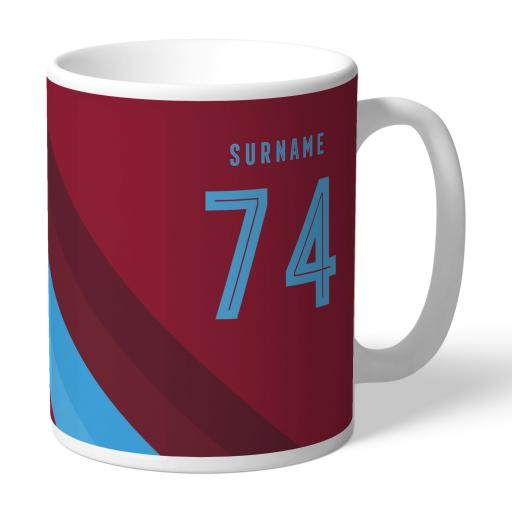 West Ham United FC Stripe Mug