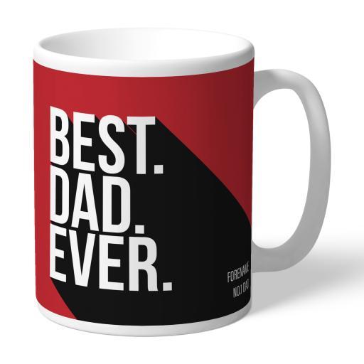 Personalised Middlesbrough Best Dad Ever Mug.