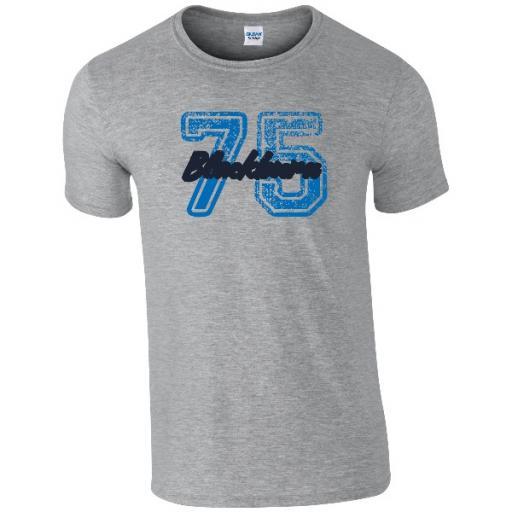 Personalised Blackburn Rovers FC Varsity Number T-Shirt.