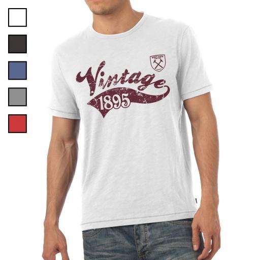 Personalised West Ham United FC Mens Vintage T-Shirt.
