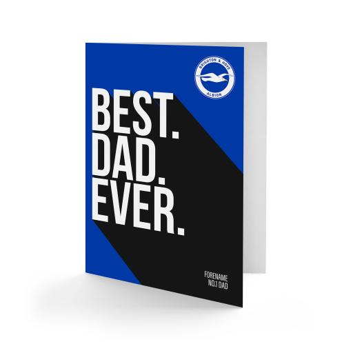 Brighton & Hove Albion FC Best Dad Ever Card