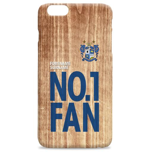 Bury FC No 1 Fan Hard Back Phone Case
