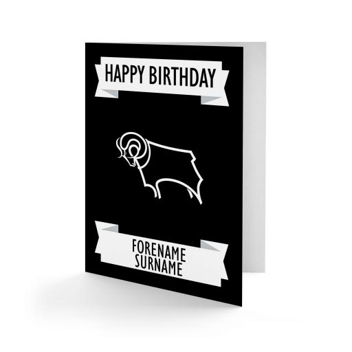 Derby County Crest Birthday Card