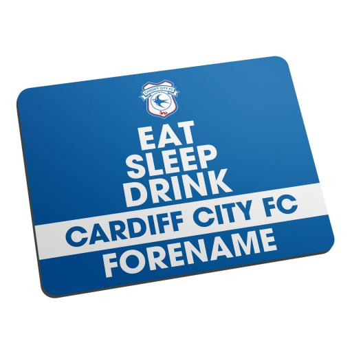 Cardiff City FC Eat Sleep Drink Mouse Mat