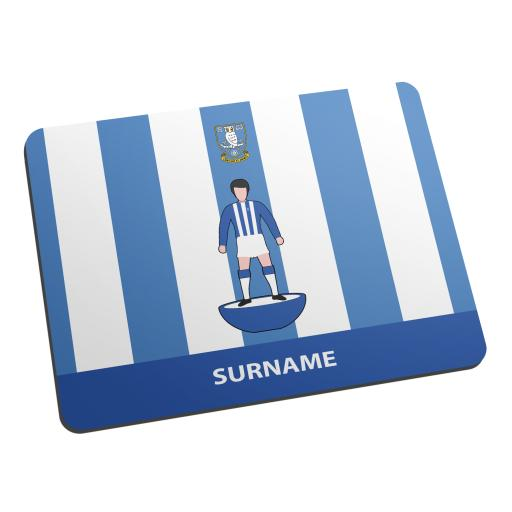 Personalised Sheffield Wednesday Player Figure Mouse Mat.