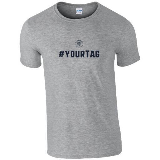 Personalised Blackpool FC Crest Hashtag T-Shirt.