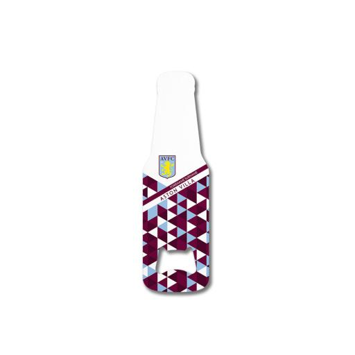 Aston Villa FC Patterned Bottle Shaped Bottle Opener
