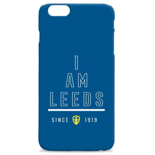 Personalised Leeds United I Am Phone Case.