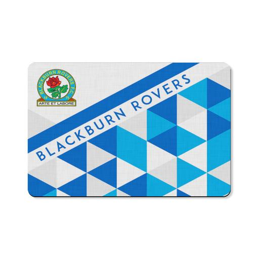 Personalised Blackburn Rovers FC Patterned Floor Mat.