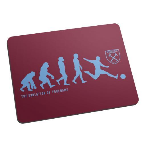 West Ham United FC Evolution Mouse Mat